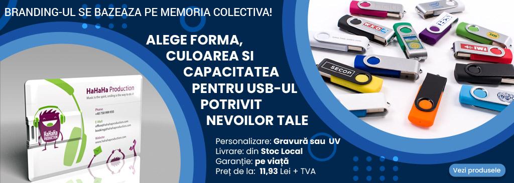 USB personalizat gratuit - DeMedia