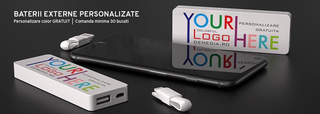 Baterii externe personalizabile DeMedia